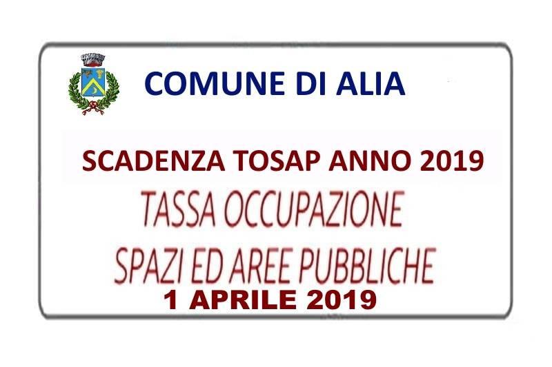 SCADENZA TOSAP ANNO 2019