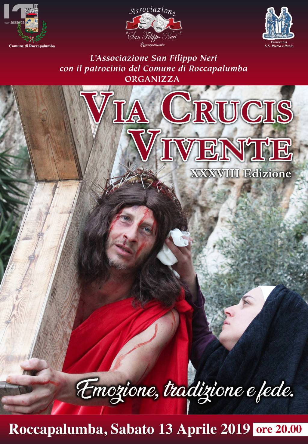 XXXVIII  EDIZIONE DELLA VIA CRUCIS VIVENTE.