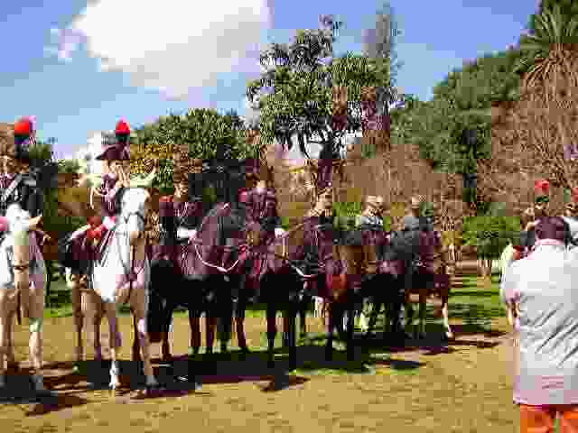 Cavalli, cavalieri e carrozze d`epoca, qualche anno fa a Villa Trabia a Palermo