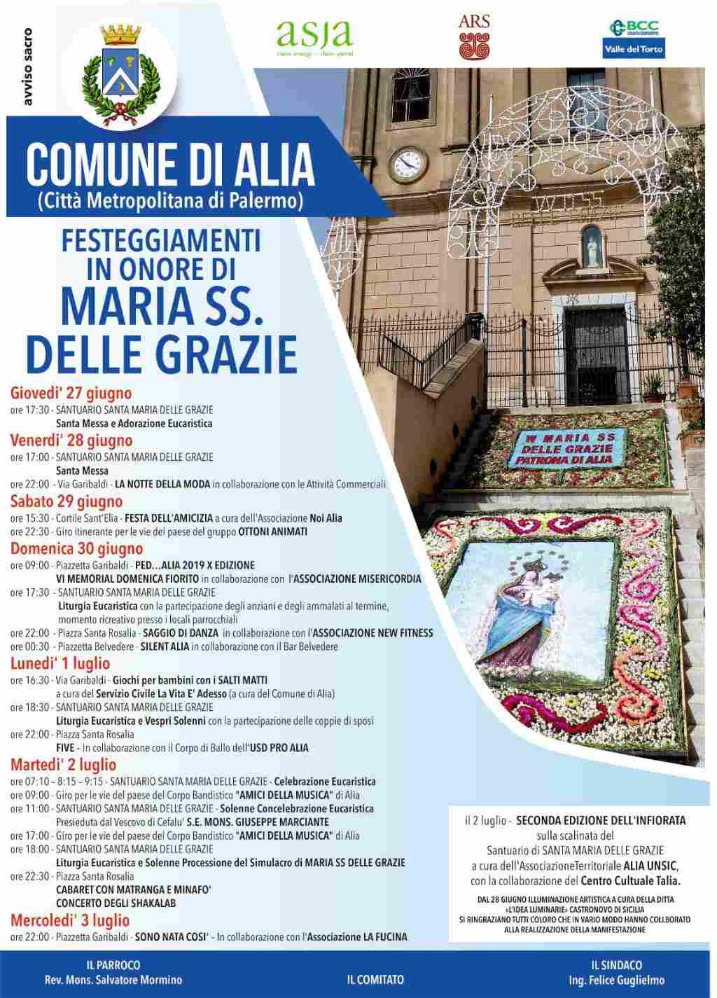 FESTEGGIAMENTI IN ONORE DI MARIA SS. DELLE GRAZIE PATRONA DI ALIA.
