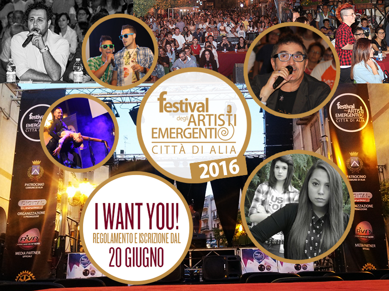 Festival degli Artisti Emergenti - Citt� di Alia  ISCRIZIONI DA LUNEDI` 20 GIUGNO
