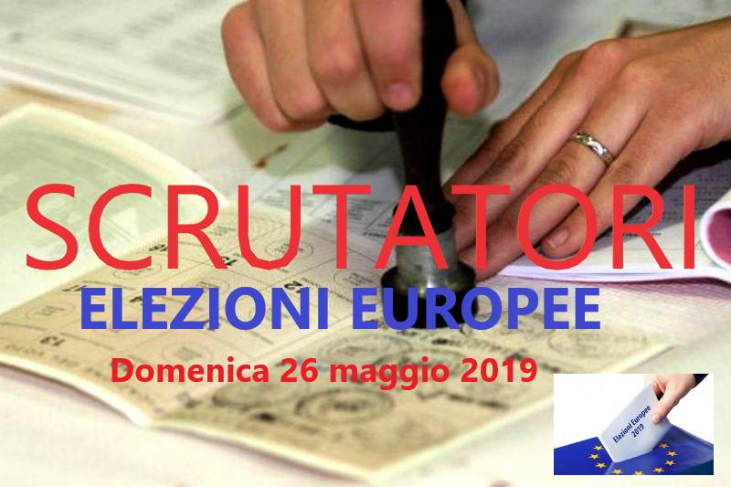 ESTRATTI GLI SCRUTATORI PER LE ELEZIONI EUROPEE DEL 26 MAGGIO 2019.