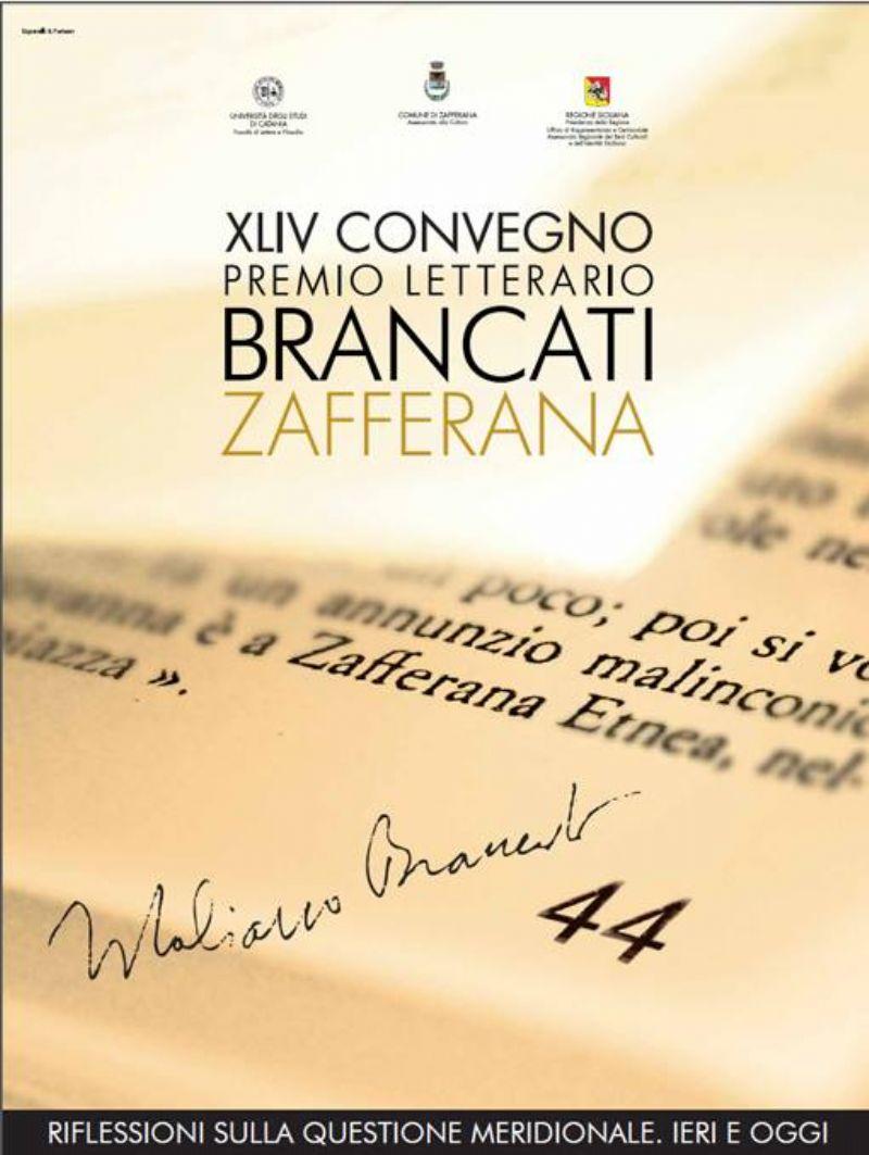 ZAFFERANA ETNEA (CT) Prende il via la 44° edizione del Premio Letterario Brancati