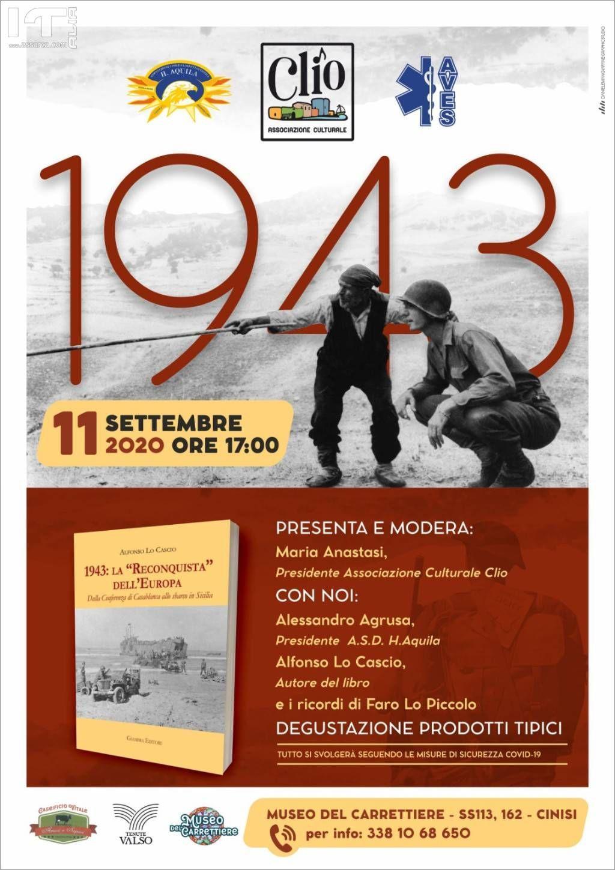 """Cinisi, presentazione del libro """"1943 La Reconquista dell`Europa"""" di Alfonso Lo Cascio"""