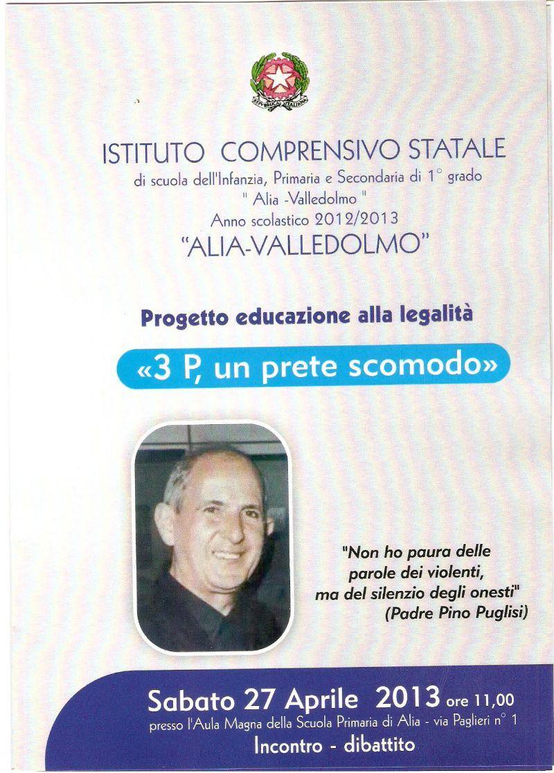 ALIA (PA) - PROGETTO EDUCAZIONE ALLA LEGALITA`