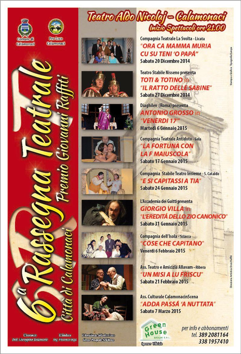 6° Rassegna di Teatro Dialettale Siciliano - Premio Giovanni Raffiti