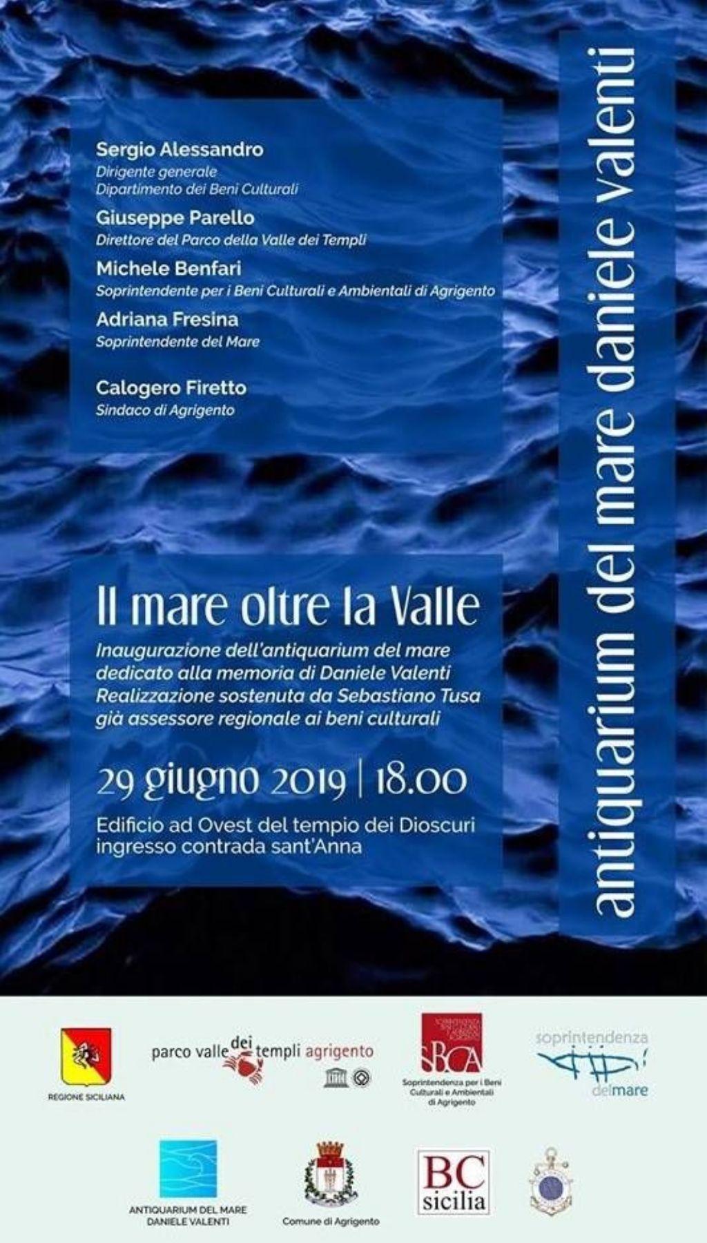 Agrigento, inaugurazione Antiquarium del mare Daniele Valenti.