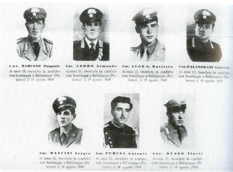 Palermo - 62° Anniversario dell`Eccidio dei Carabinieri a Passo di Rigano - Bellolampo