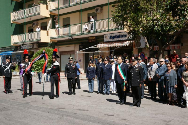 PALERMO, 13 GIUGNO 2012: 29° ANNIVERSARIO DELL`OMICIDIO DEL CAPITANO MARIO D?ALEO, DELL`APPUNTATO GIUSEPPE BOMMARITO E DEL CARABINIERE PIETRO MORICI