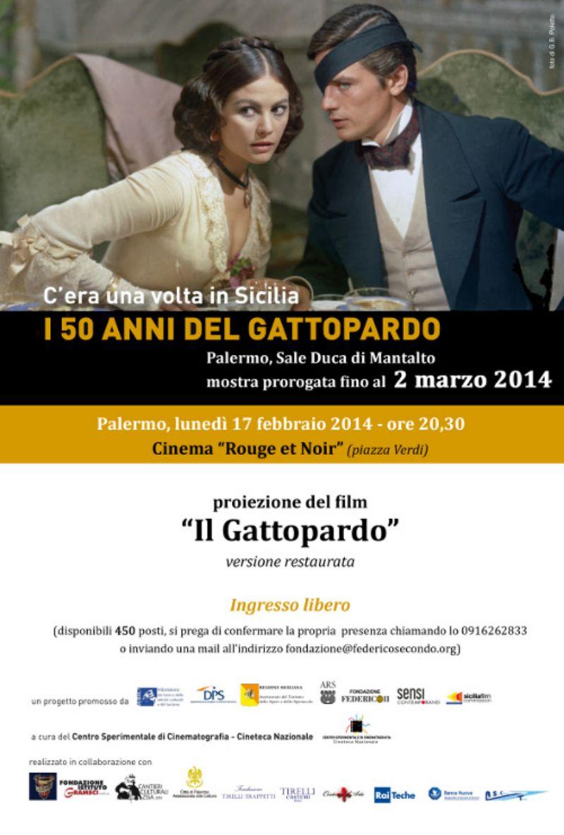 PALERMO: fONDAZIONE FEDERICO II,  Proiezione de IL GATTOPARDO versione restaurata
