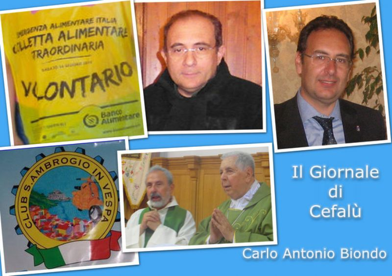 Il Giornale di Cefalù: Sindaco Ferrarello, Arcivescovo Bommarito, Narratura, Colletta Alimentare e Vespa