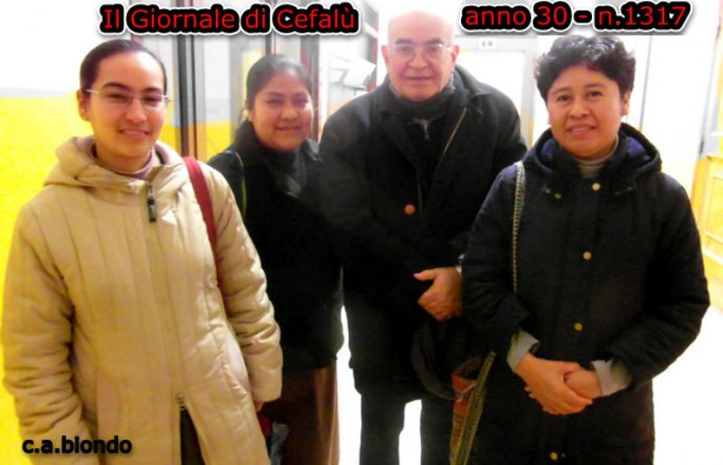 CEFALU`: Auguri Natalizi da tre Suore Missionarie Messicane