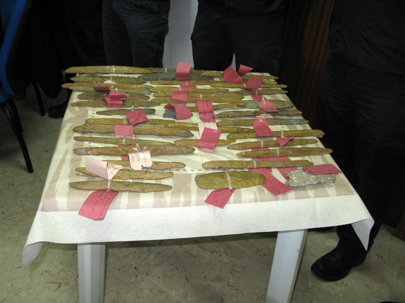 Si inaugura la mostra sui lingotti di oricalco recuperati nei fondali di Gela che rester� aperta fino al 12 aprile
