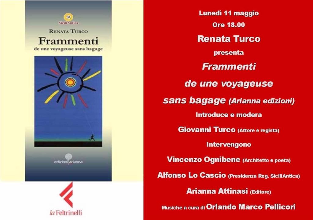 """PRESENTAZIONE DEL LIBRO """"FRAMMENTI"""" DI RENATA TURCO"""