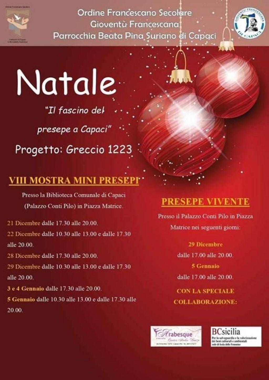 A Capaci il Presepe Vivente �Greccio 1223� promosso dalla Giovent� Francescana in collaborazione con BCsicilia.