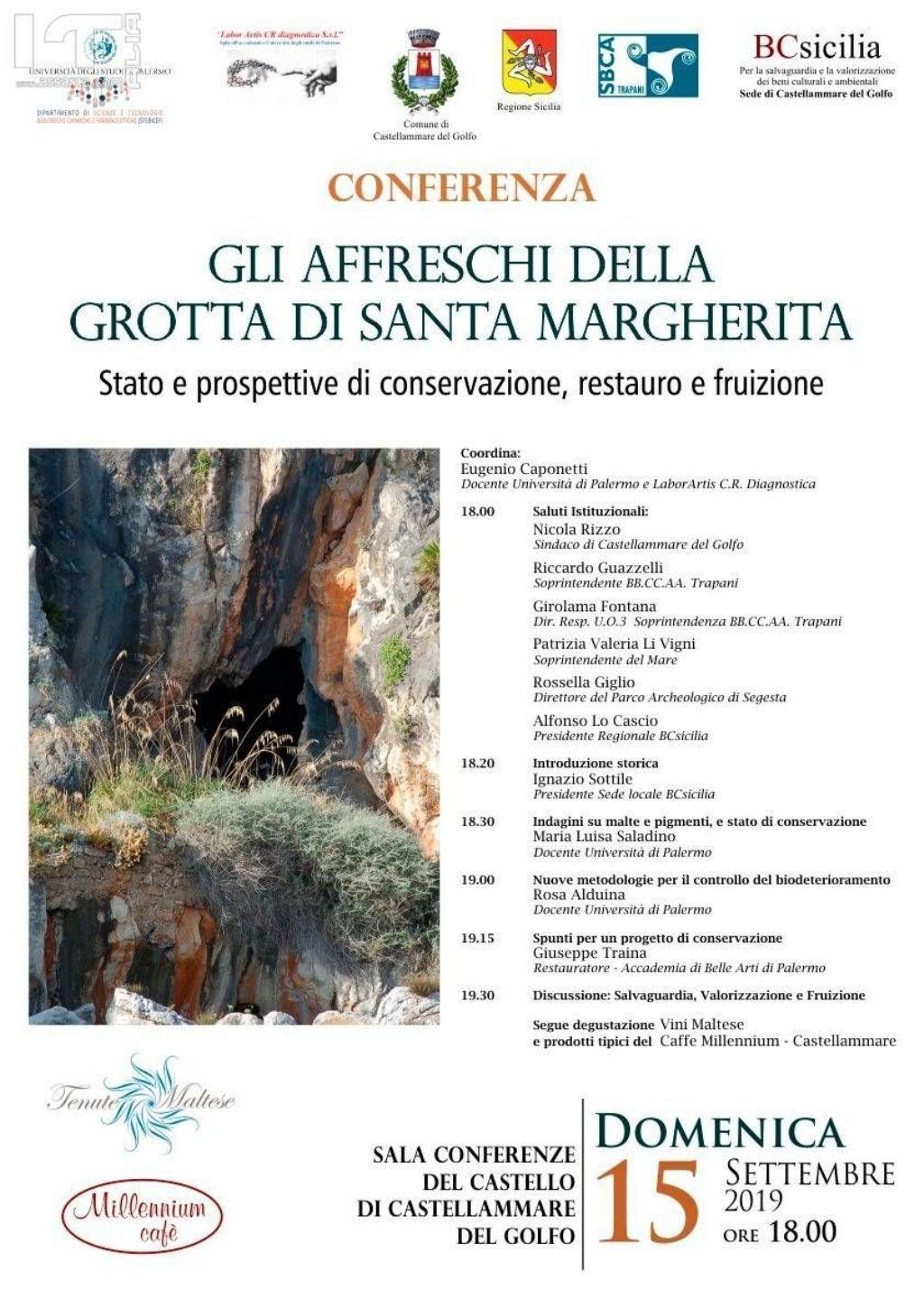 Castellammare del Golfo. Conferenza: Gli affreschi della Grotta di Santa Margherita.