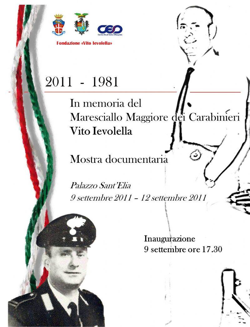 PALERMO - Commemorazione del 30? anniversario dell`eccidio del Maresciallo Maggiore medaglia d`oro al valor civile