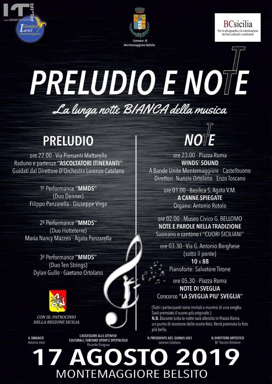 Montemaggiore Belsito, la lunga notte Bianca della Musica.