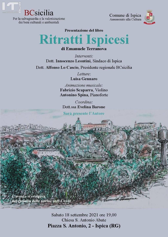 """Ispica, presentazione del libro di Emanuele Terranova """"Ritratti Ispicesi"""""""