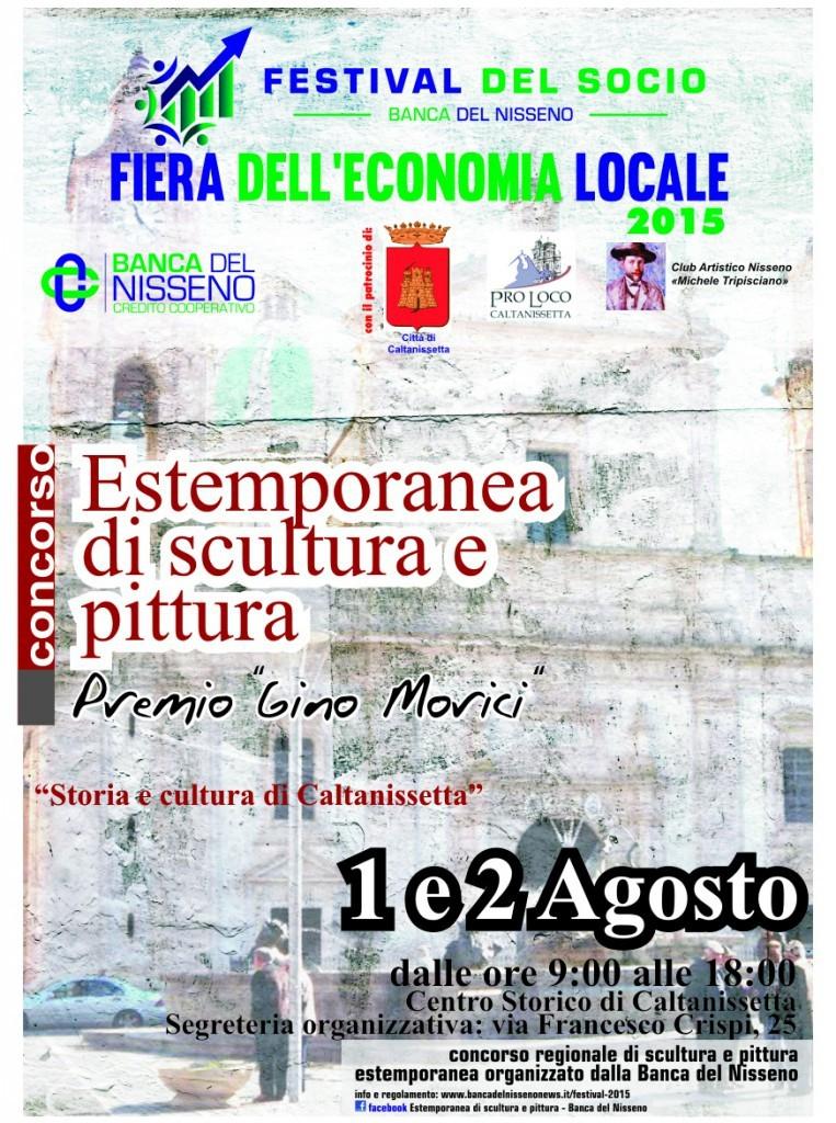 Concorso regionale di scultura e pittura estemporanea �Storia e cultura di Caltanissetta� � Premio �Gino Morici�