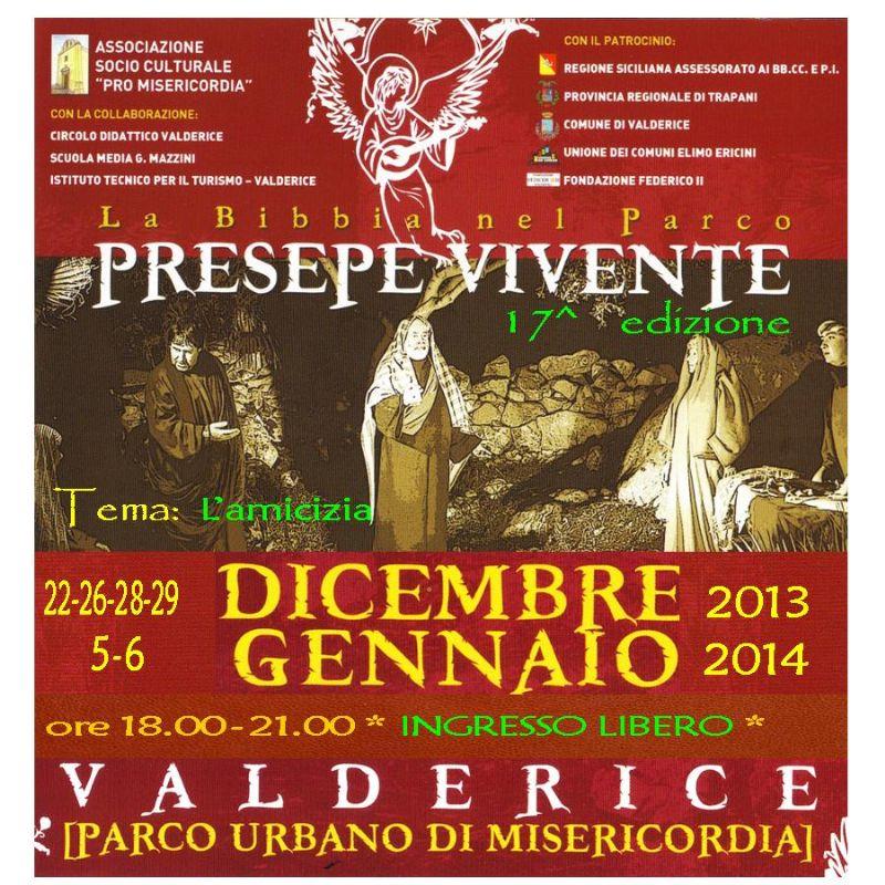 VALDERICE (TP): �LA BIBBIA NEL PARCO� PRESEPE VIVENTE XVII edizione