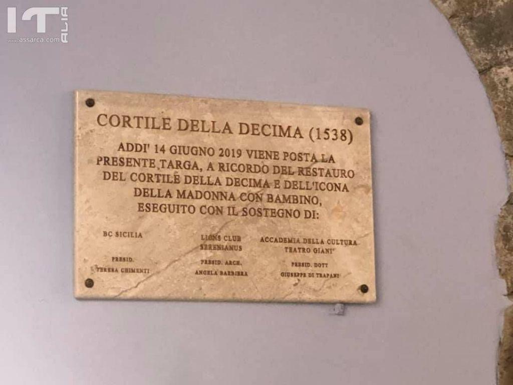 Partinico, restaurato il Cortile della Decima per iniziativa di BCsicilia, Lions Club e Accademia della Cultura