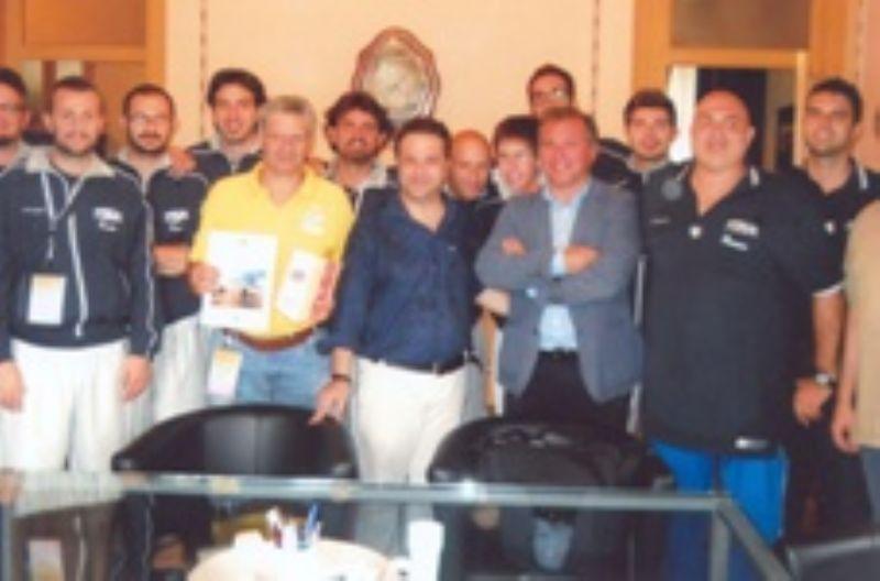 La squadra italiana maschile audiolesi di basket in visita a Termini Imerese