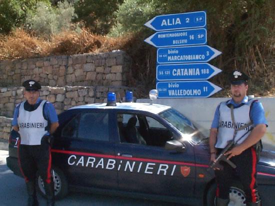 Massiccia operazione dei carabinieri della compagnia di Lercara Friddi