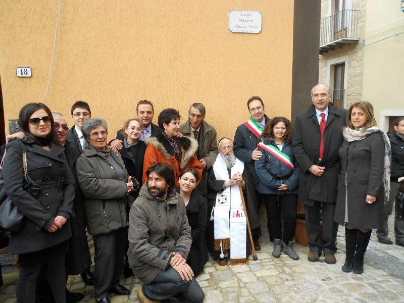 GANGI, CERIMONIA INTITOLAZIONE LARGO MAURO PATTI