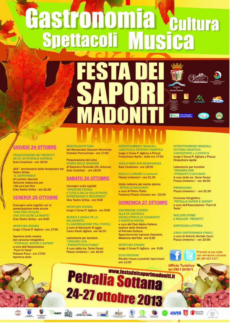 PETRALIA SOTTANA (PA) - Festa dei sapori madoniti d�autunno, Petralia Sottana celebra gastronomia e cultura locali dal 24 al 27 ottobre