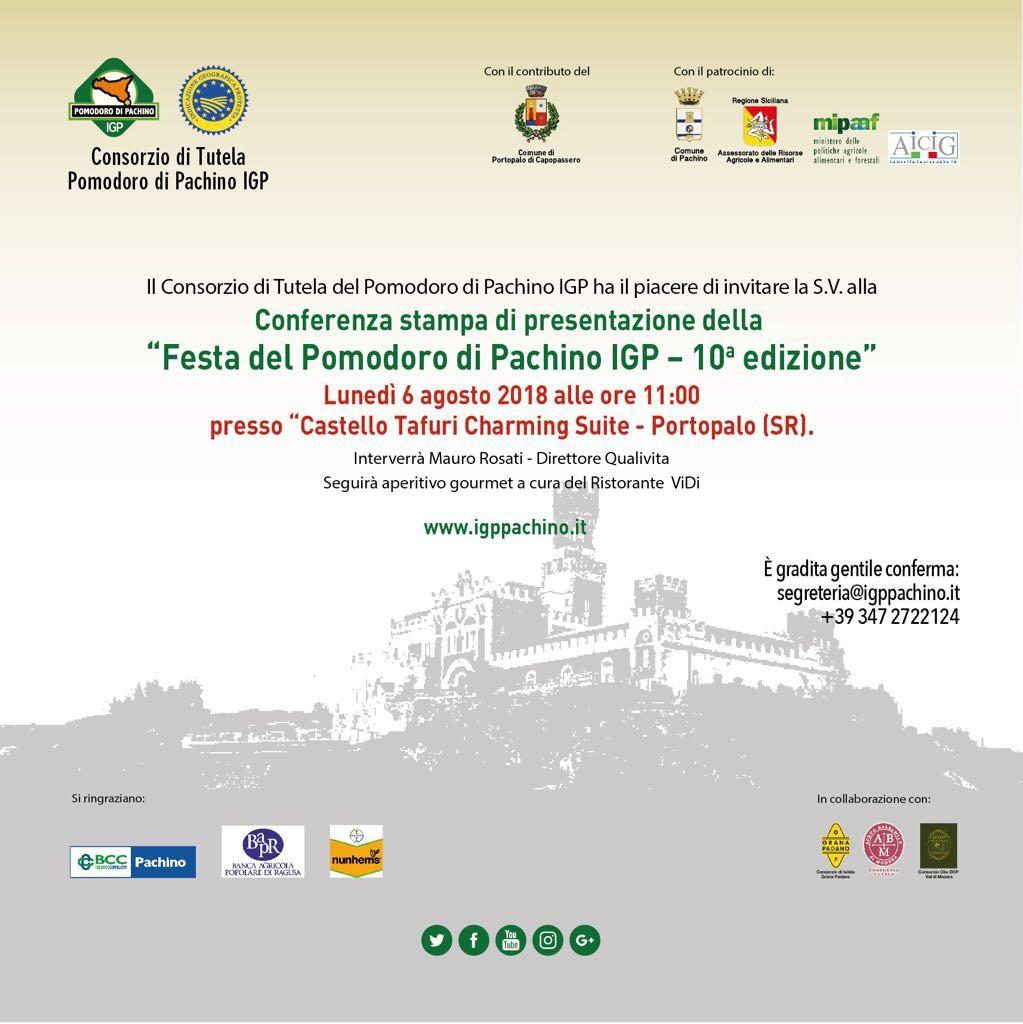 FESTA DEL POMODORO DI PACHINO IGP: TERRITORIO E PRODUTTORI AL CENTRO DELLA DECIMA EDIZIONE