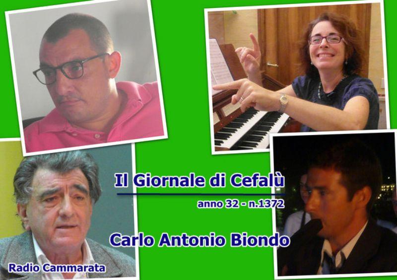 Cefalù (PA) - Manfredi Borsellino, Giuseppe Guarcello, Luciano Luciani, Melita Gennuso al Giornale di Cefalù