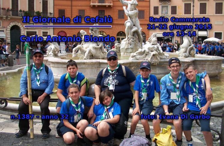 CEFALU` (PA) - Gli Scout a Roma da Papa Francesco