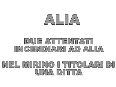Attentati incendiari ad Alia nel mirino i titolari di una ditta