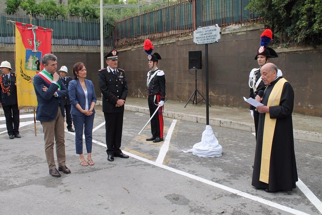 TERMINI IMERESE (PA) - Intitolata una piazza alla memoria del carabiniere Daniele Satariano, medaglia di bronzo al valor militare alla memoria
