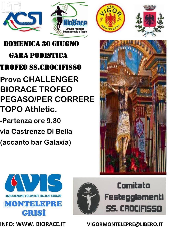 Podismo: A Montelepre (PA) domenica 30 giugno �19 si corre in onore del SS. Crocifisso.