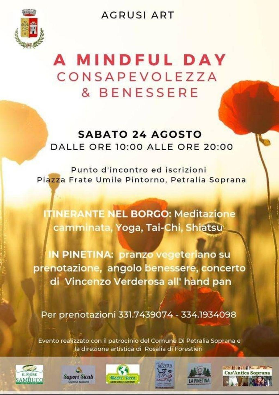 Petralia Soprana. Sabato �A Mindful Day�, la giornata della consapevolezza e del benessere.