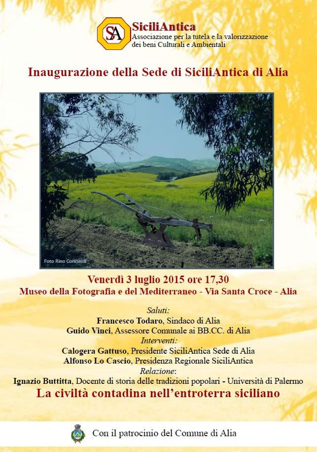 Si inaugura la nuova sede di SiciliAntica ad Alia