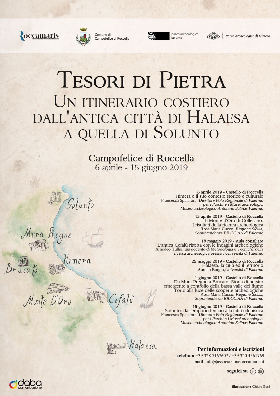 Associazione Roccamaris presenta Tesori di Pietra. Un itinerario costiero dall`antica città di Halaesa a quella di Solunto