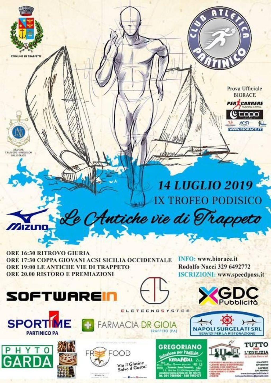 Podismo: Domenica al via la nona edizione del  �Trofeo Podistico le Antiche Vie di Trappeto� BioRace e Coppa Giovani ACSI S.O.