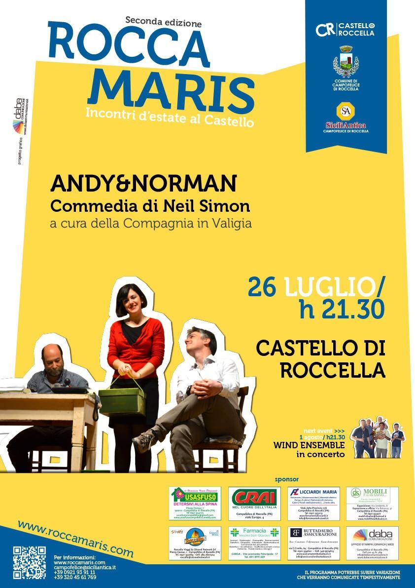 CAMPOFELICE DI ROCCELLA (PA) : La divertente commedia Andy&Norman di Neil Simon di scena a Roccamaris