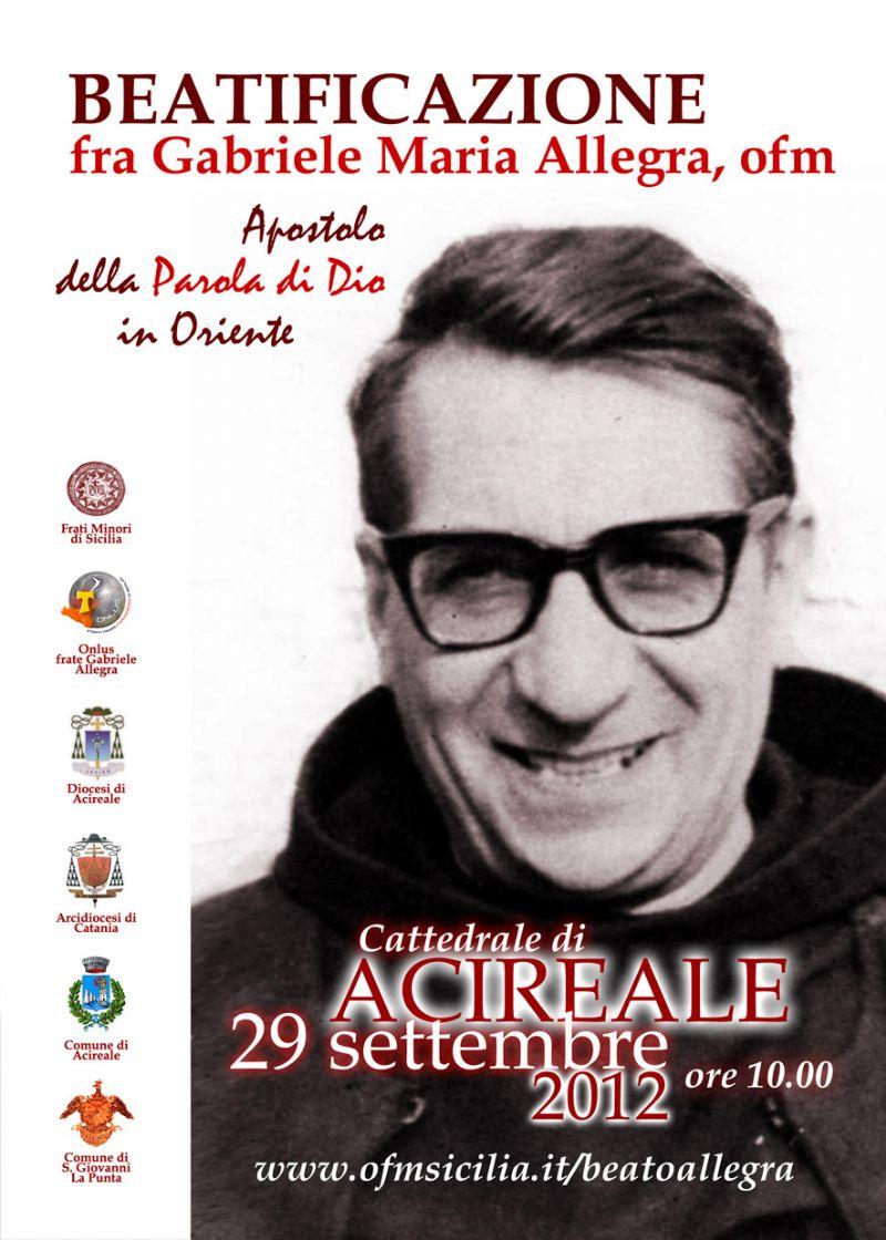 """SAN GIOVANNI LA PUNTA - Convegno """"Padre Gabriele Maria Allegra, un'icona della fede per l'uomo di oggi"""""""