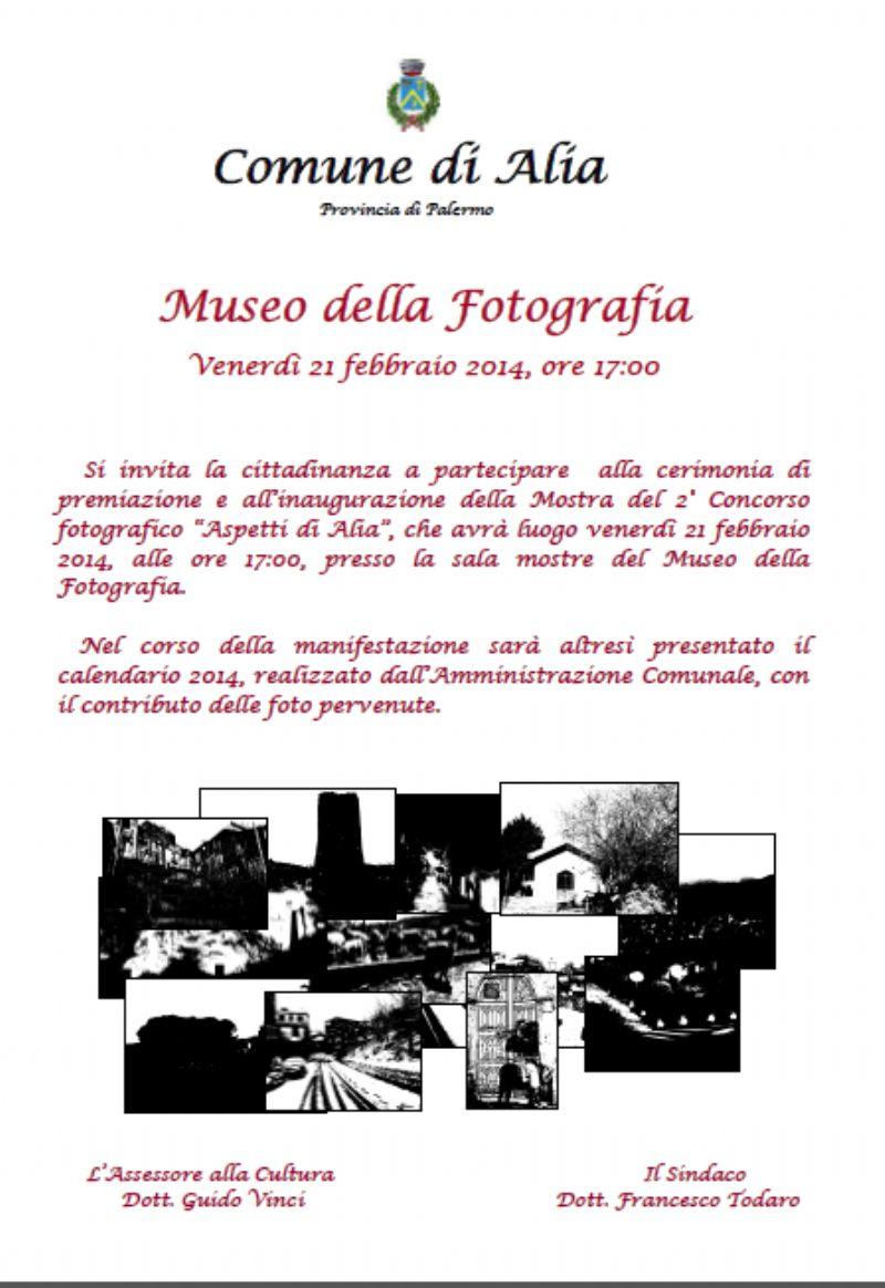 Mostra e Premiazione Concorso Fotografico Aspetti di Alia