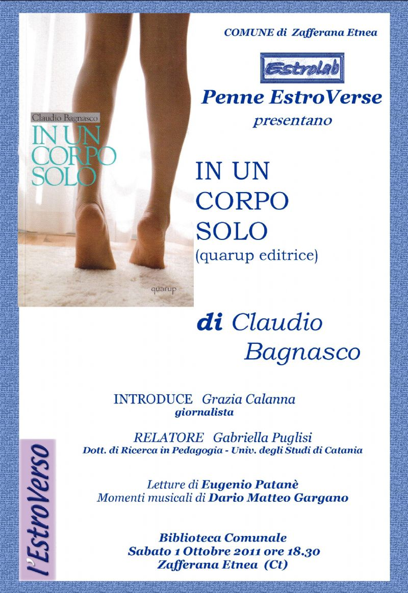 Zafferana Etnea, lo scrittore Claudio Bagnasco ospite a ?Penne Estroverse?