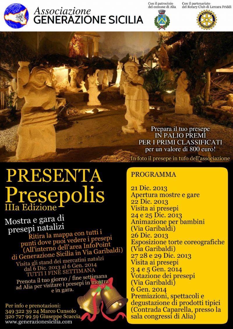 Ritorna ad Alia la manifestazione �Presepolis�. Al via la IIIa Edizione