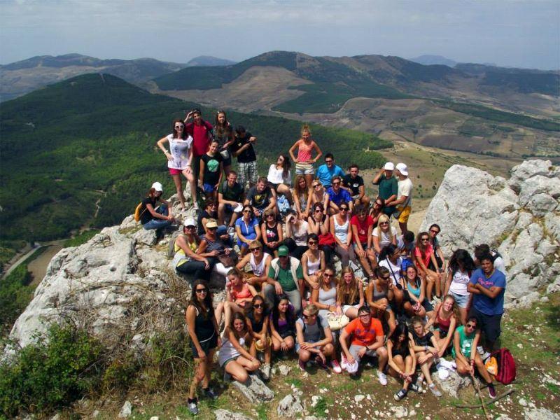 CAMMARATA (AG) - SUMMER UNIVERSITY: ALTRI 50 STUDENTI INTERNAZIONALI SUL MONTE CAMMARATA
