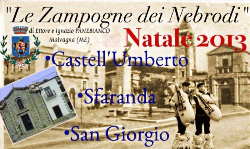 """CASTELL`UMBERTO (ME) - NATALE 2013 CON LE """"ZAMPOGNE DEI NEBRODI"""""""