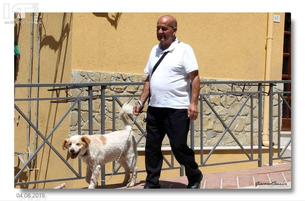 Giuseppe Ditta con il suo Balu