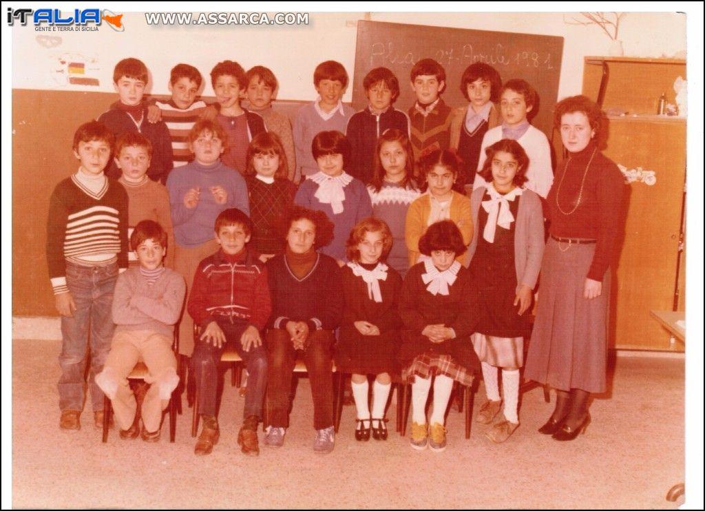 Ricordi 4^ Elementare  27 Aprile 1981