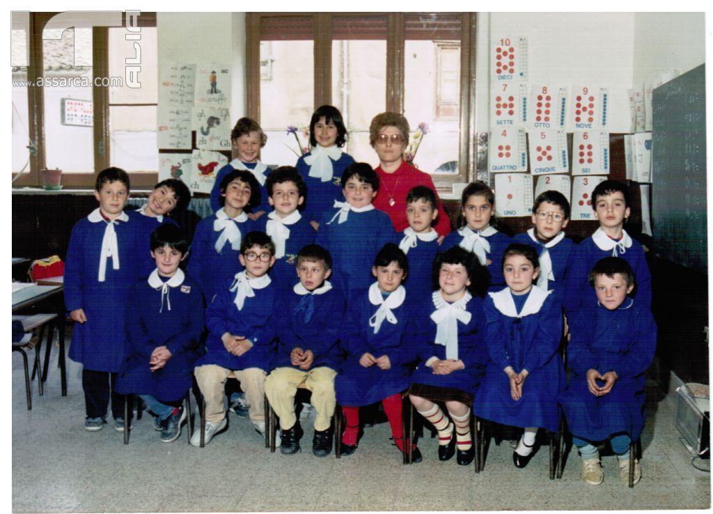 1^ elementare anno 1986,maestra D`Amico.